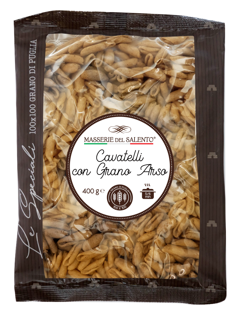 pasta fresca speciale cavatelli con grano arso masserie del salento