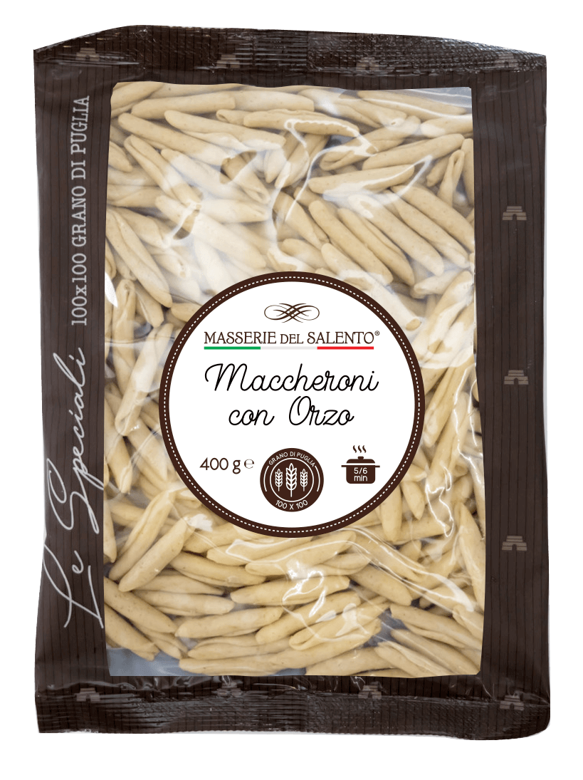 pasta fresca speciale maccheroni con orzo masserie del salento