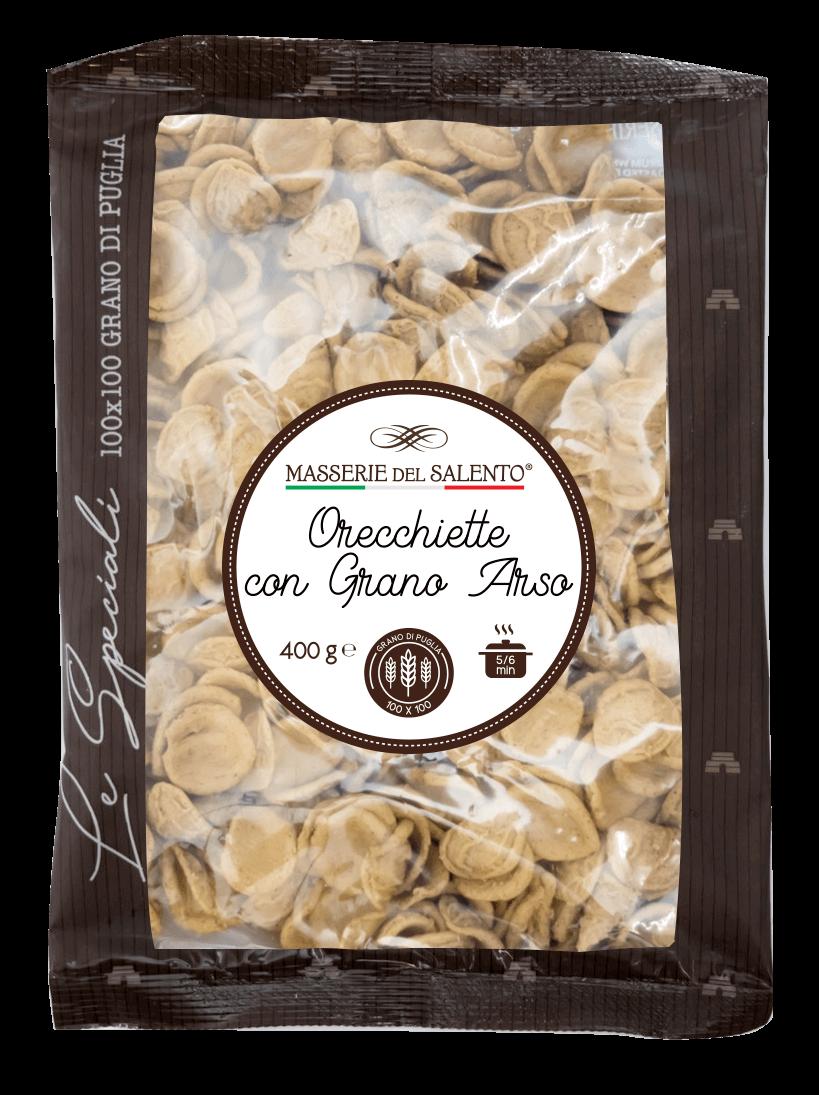 pasta fresca speciale orecchiette con grano arso masserie del salento